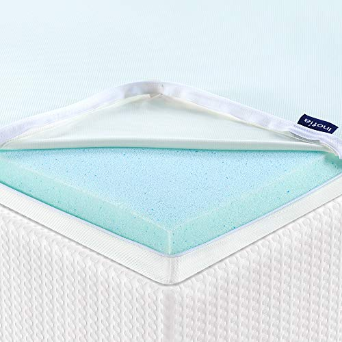 Inofia Mattress Topper Super King, Gel Memory Foam Mattress Topper - Keep Cooling, 5CM Bed Topper Extra Thickness, Smart Temperature GELEX Topper for Restful Sleep,100-Night Home Trial (180X200cm)