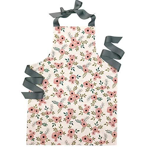Handmade Blush Rose Tween Girl Apron Gift for Kitchen Baking Art
