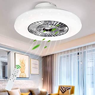 DLLT LED Remote Ceiling Fan with Light Kit-40W Modern...