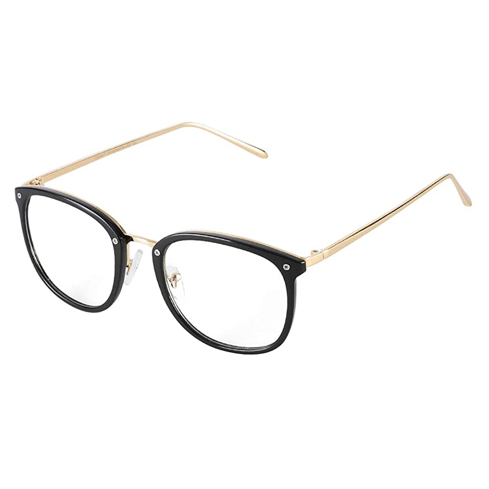 ポーン不道徳逸話Cyxus(シクサズ)ファッション眼鏡 ブルーライトカット [透明レンズ] pcメガネ UVカット 紫外線カット 輻射防止 目の疲れを緩和 肌に優しい 男女兼用