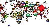 Rompecabezas de mapamundi de dibujos animados, rompecabezas de 500 piezas para adultos juegos para adultos adolescentes y niños