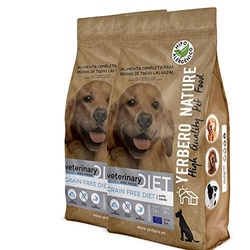 YERBERO Nature Grain Free Diet Pollo y Cerdo, 2 uds de 3 kg de alimento sin Cereales para Perros.
