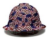 Full Brim Hard Hat, Ratchet 4 Pt Suspension, Graphite Pattern Design, Black Matte, by...