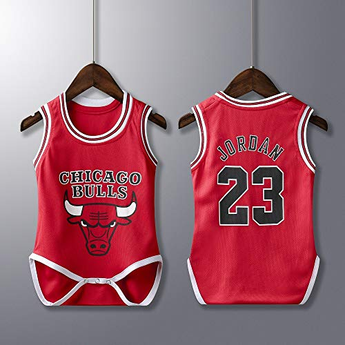Bebé Bodies Unisex - NBA Jordan 23/Curry 30/James 23/Irving 11 Camisetas de Baloncesto Sin Mangas para Bebés Niño & Niña Mamelucos Playsuit, 6-30 Meses