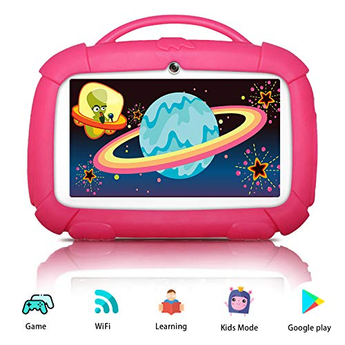 Kids Tablets, Android 9.0 Tablet for Kids, 16GB ROM, Kid-Proof Case, IPS Eye Protection Display, Kids Tablet with WiFi Dual Camera Parental Control and Learning Games, Best Gift for Boys Girls