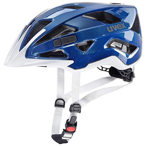Uvex Unisex– Erwachsene, active Fahrradhelm, blue white, 52-57 cm
