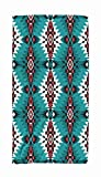 ROOLAYS 30x60 Microfiber Beach Towel Quick Dry for Travel,Swimming Baby Bath Towel of Geometric Pattern Native American Southwest Print Ethnic Design Fabric Textile Rug Blanket Indian,Red White