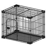 Dreamsoule ドッグケージ ドッグサークル 室内 犬ケージ 猫 ペット用シンプルケージ 屋根付き 73Lx53Wx60H