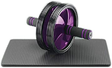 """Joerex"""" I. CARE"""" Exercise Wheel Abdominal Double Wheel By Hirmoz, Dual Ab Roller Body Workout Gym Fitness Equipment - purp..."""