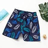 Bañador para niños, pantalones cortos de playa, pantalones cortos de natación, trajes de baño para niños Swimwuit (color: azul, tamaño: 4 (3 4 años)