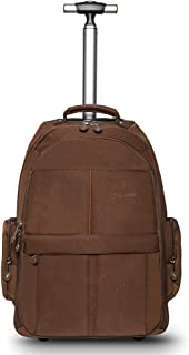 WEISHENGDA 19 inches Waterproof Wheeled Rolling Backpack for Men and Women Business Laptop Travel Bag
