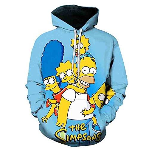 Sudaderas The Simpsons Niño Sudadera con Capucha Hombres 3D Impresión Unisex Mujer Sudadera de Manga Larga Suéter Fresco Dibujos Animados de Fans Streetwear Sudaderas de Moda-A_X-Small