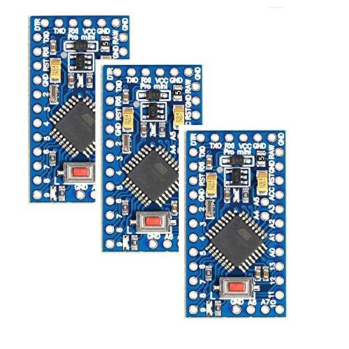 3 Stück Pro Mini Atmega328P Compatible-with-Arduino IDE - 3,3V 8MHz Entwicklerboard, Pro-Mini-Modul Mikrocontroller Platine