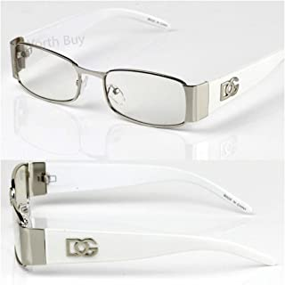 d4b2dd27d69f Men Women DG Clear Lens Designer Rectangular Eyeglasses Retro Fashion Nerd  Frame