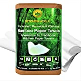 Super Bamboo Paper Towels (2 Pack, Extra Thick) - Reusable & Washable Bamboo Kitchen Towels - Naturally Odor Resistant, Highly Absorbent, Durable & Economical – Eco Friendly & Sustainable Alternative