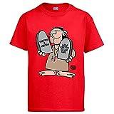 Diver Camisetas Camiseta Atleti Los Mandamientos del Cholo ilustrado por Jorge Crespo Cano - Rojo, 9-11 años