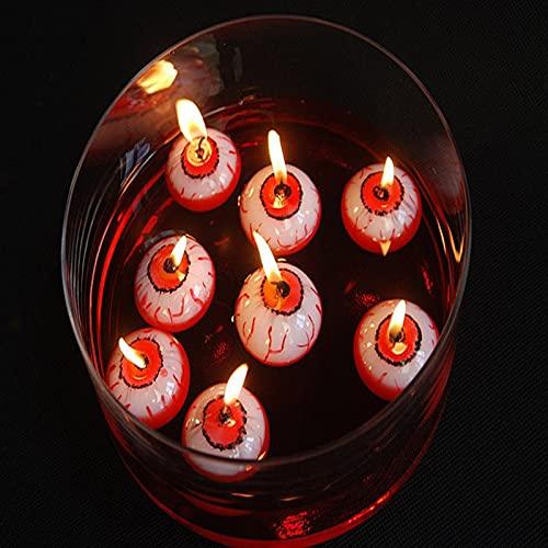 Eyeball - Velas flotantes de Halloween, regalos de fiesta para interiores y exteriores, decoración de velas, velas de mesa, decoraciones de fiesta, decoración de Halloween (8 piezas)
