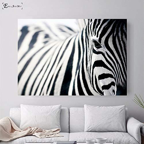 baodanla Pintura al óleo sin Marco Nordic Sea Waves Zebra Bridge Carteles e Impresiones Arte de la Pared Imagen Decorativa Lienzo Ng para Sala de Estar Inicio60x90cm