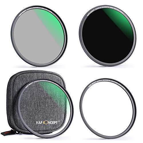 K&F Concept Filtri Magnetici Kit Filtri Magnetici FotograficiUltraSottili 67mm Sistema di Scambio Rapido Magnetici con Adattatore Magnetici/Filtro UV/CPL/ND1000 e Pacchetto Filtri Nylon