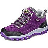 VTASQ Chaussures de Randonnée Homme Femme Antidérapants Chaussures de Trekking Extérieur Respirant d'escalade Sport Trekking Chaussures Chausures de Marche Violet 36 EU