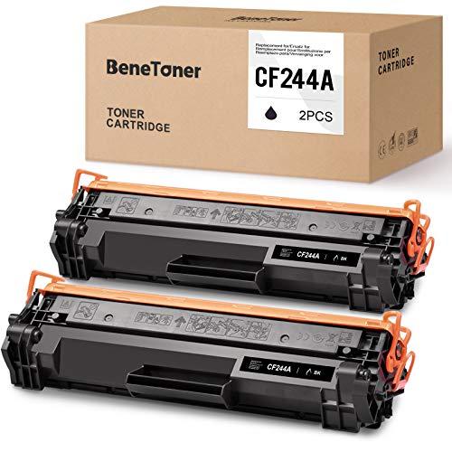 BeneToner 44A CF244A Toner Kompatible für HP 44A CF244A für HP Laserjet Pro M15a M15w M16 M17a M17w MFP M28a MFP M28w MFP 29 MFP M30a MFP M30w Drucker (2xSchwarz)
