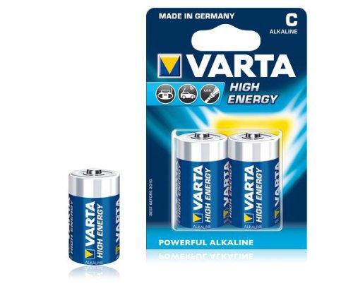 Varta High Energy LR14 Baby C Batterie (1,5V, 1400mAh, 1x 2-er Blister)