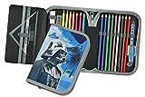 Star Wars Estuche para lápices, regla, goma de borrar, etc. Estuche escolar para niñas y niños