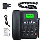 Lychee Wireless Classico Telefono Fisso GSM Quad-band - Dual SIM Card,Supporto Multilingue(Compreso l'italiano), Ampio Display Retroilluminato,Ideale per Casa/Hotel/Ufficione