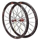 MZPWJD Paire Roues Vélo Course 700c Vélo Route Version Colorée Alliage Double Paroi Jante 40mm...