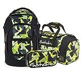 Satch Pack 3er Set Schulrucksack, Sporttasche & Schlamperbox - Gravity Jungle, 30 Liter, 1,2 kg