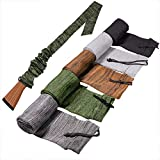 5 Pcs Gun Socks Case Sleeve, 54' Silicone Treated Moisture Proof Gun Socks Case, Widened Elastic Rifle Silicone Sock, Gun Protection Accessories for Rifles with Scopes(Mix Color)