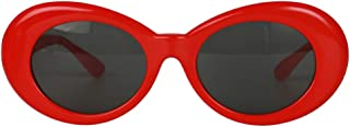 Dolity Novelty Oval Mod Thick Sunglasses Clout Goggles Sun Protection Unisex