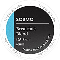 100-Count Solimo K-Cup Coffee Pods (Breakfast Blend), Compatible with 2.0 K-Cup Brewers