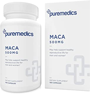 Sponsored Ad - PUREMEDICS Maca Root Capsules - Maca Supplement for Men and Women to Support Reproductive Health - Pharmace...