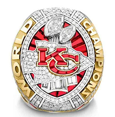 Fei Fei 2019-2020 Super Bowl Championship Ring Anillos de Hombre, Championship Anillo de réplica Personalizado Anillos de Diamantes para Hombres,with Box,14