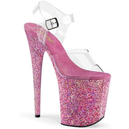 Pleaser Damen FLAMINGO-808CF Plateau High Heels Sandalette Pink 39 EU