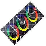 PHLPS Cubos de Rompecabezas Plegables, Juego de Cerebro, Rompecabezas 3D, 8 Paneles 3 Anillos Magic Black Magic Puzzle Cube Twisty, para niños Adolescentes Adultos
