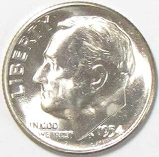 1954 silver dime