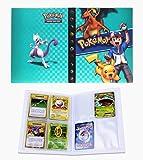 Porta Carte Pokemon, Raccoglitore Carte Pokémon, Album per Carte Pokemon GX, può ospitare 120 Carte a Caricamento Singolo o 240 a Doppio Caricamento (Ash Ketchum)