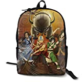 Classic Worlde Backpack Bag Avatar Last Airbender Large Capacity Novelty Laptop Bag For Kids Women Men (One Size, Black)