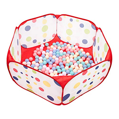 NA Larbon Kids Ball Pit Tents and Tunnels,Best Birthday Gift for Toddler Boys & Girls,Indoor and Outdoor Easy Folding Ball Play Pool Kids Toy Play Tent,Zippered Storage Bag