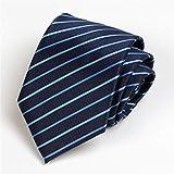 Zjuki Krawatte 8 cm Herren Krawatte Business Bräutigam Groomsmen Hochzeit Blaue Streifen Lässige Krawatte Krawatte Krawatten Krawatte Männer Geschenk Einheitsgröße Erwachsene B
