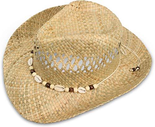 normani Cowboy Hut Strohhut mit Hutband Farbe Sea-Shell Größe 55-57