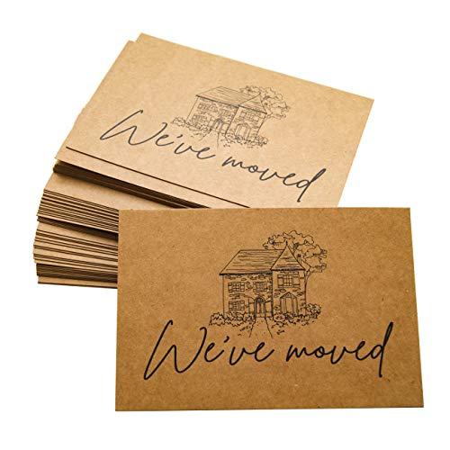 RXBC2011 We've Moved Postkarten Umzugskarten 50 Stück