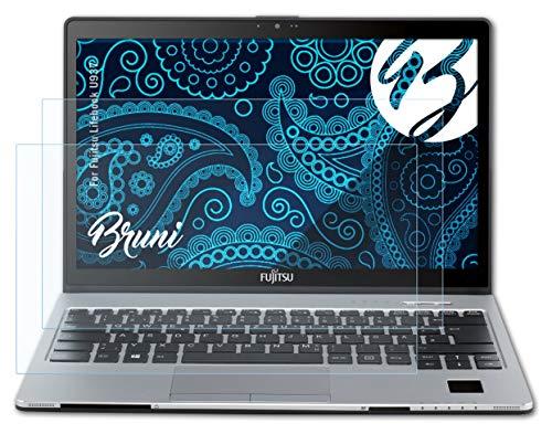 Bruni Schutzfolie kompatibel mit Fujitsu Lifebook U937 Folie, glasklare Bildschirmschutzfolie (2X)