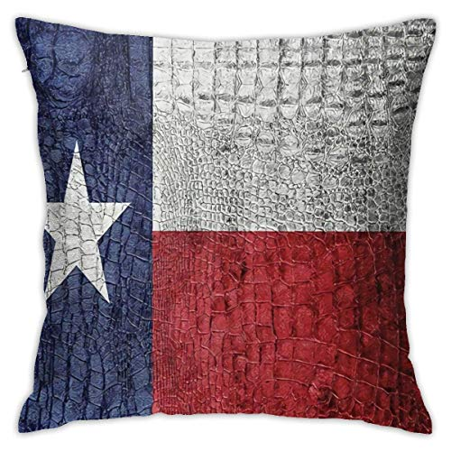 Lucky girlfriend Texas State Flag Painted Pillowcase Square Soft Plush Home Sofa Bed Car Decoration Pillowcase Cushion Cover -Include Insert 18'X 18' Inches