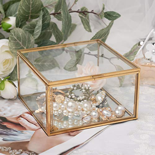 XKMY Schmuckkästchen Organizer nordische Vintage Mädchen Schmuckkästchen Glas Schmuck Aufbewahrung Organizer Box Schatz für Schmuck Gem Schmuckkästchen Home Ornament (Farbe: Style5)