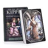 YUNDING Tarot Cards Nuevas Cartas De Tarot 39pcs/Set Fin De Siecle Kipper Tarot Inglés Divination Game Card con Pdf Guía Amigo Party Board Game Toy