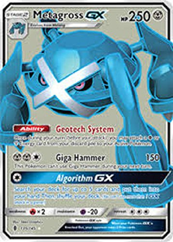 Pokemon Metagross-GX - 139/145 - Full Art Ultra Rare - Sun & Moon: Guardians Rising