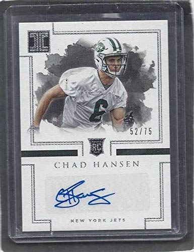 Chad Hansen 2017 Panini Impeccable Football New York Jets Auto Rc #d 52/75 - NFL Autographed Football Cards